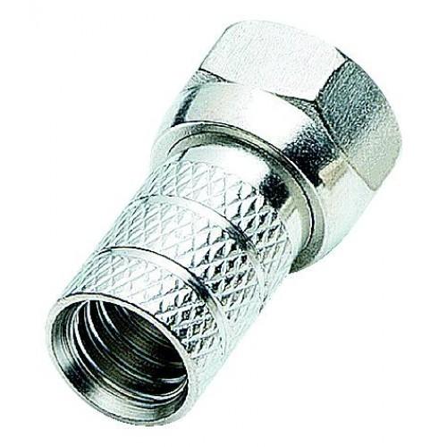 F-Stecker schraubbar 7,0 mm mit DICHTRING, 100er Pack