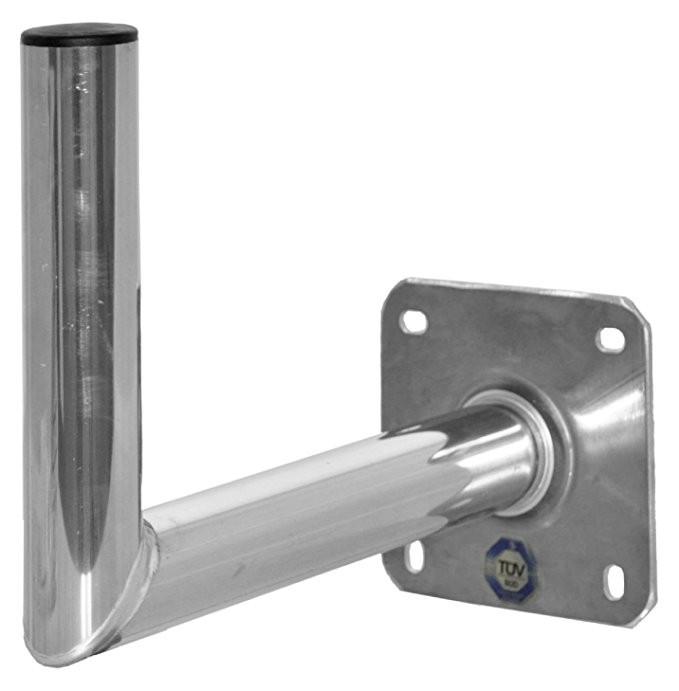 A.S.Sat Wandhalter Aluminium Edelstahloptik 45 cm TÜV geprüft