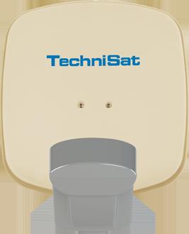 TechniSat Multytenne QuattroSat Beige, Ein-Teilnehmer 4 Orbitpositionen