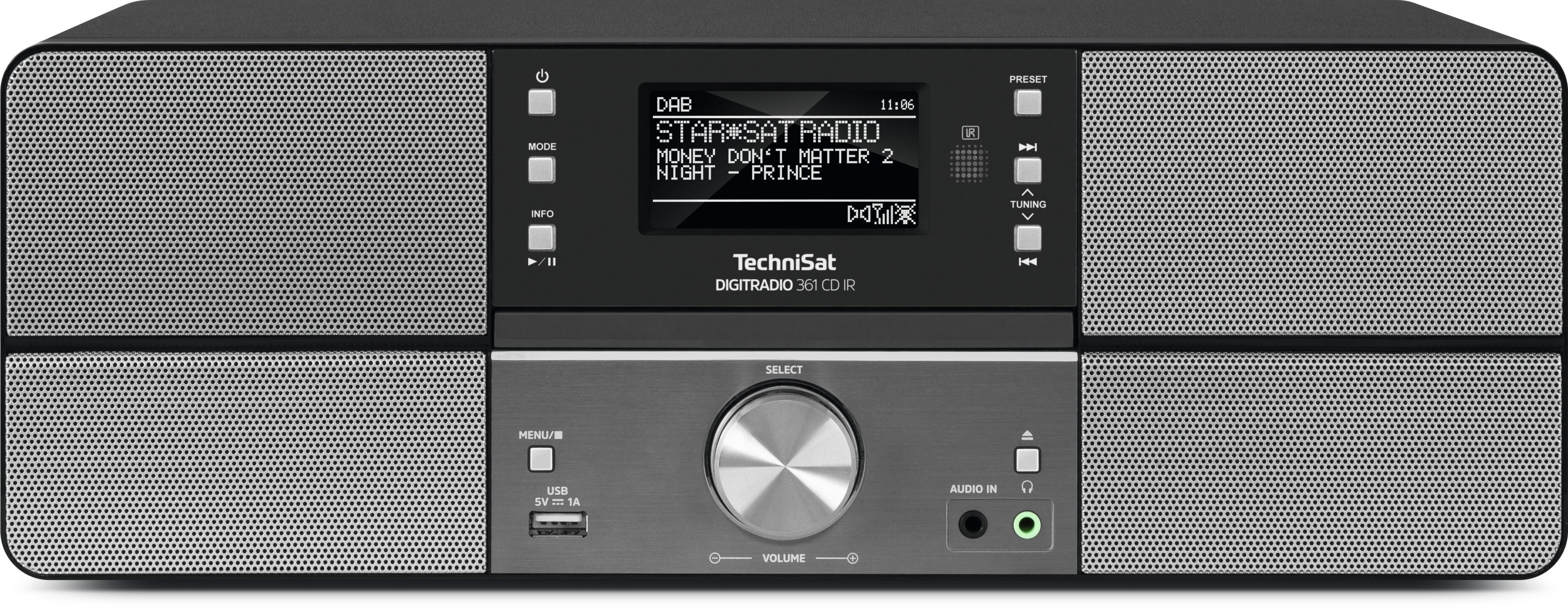 TechniSat DigitRadio 361 CD IR Anthrazit