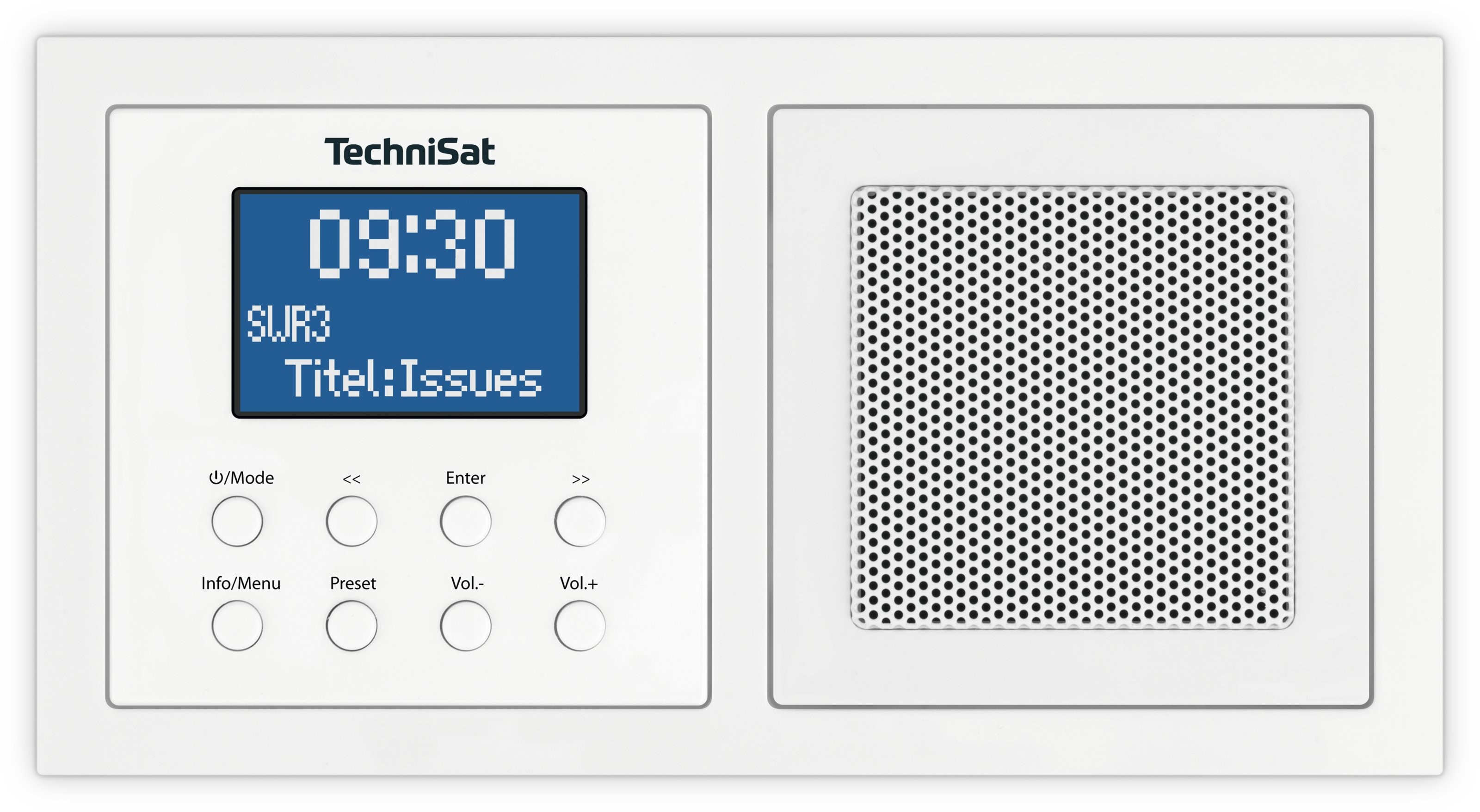 TechniSat Digitradio UP 1, weiss DAB+/UKW, BT