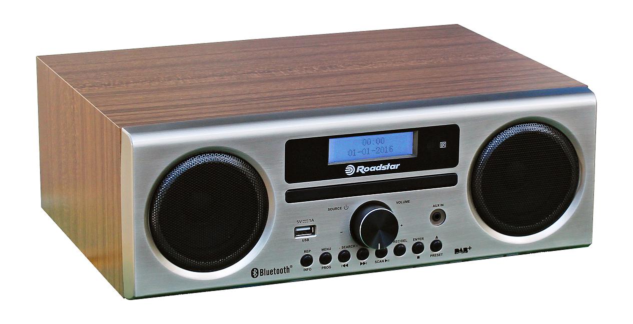 Roadstar HRA-9D+BT/RDL Walnuss Silber DAB+/UKW Radio CD Bluetooth