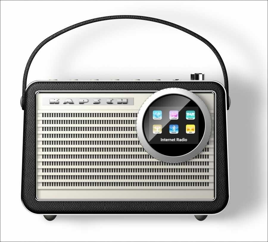 Kapsch Capri 125 plus, Retro-Design Kofferradio in Echtleder
