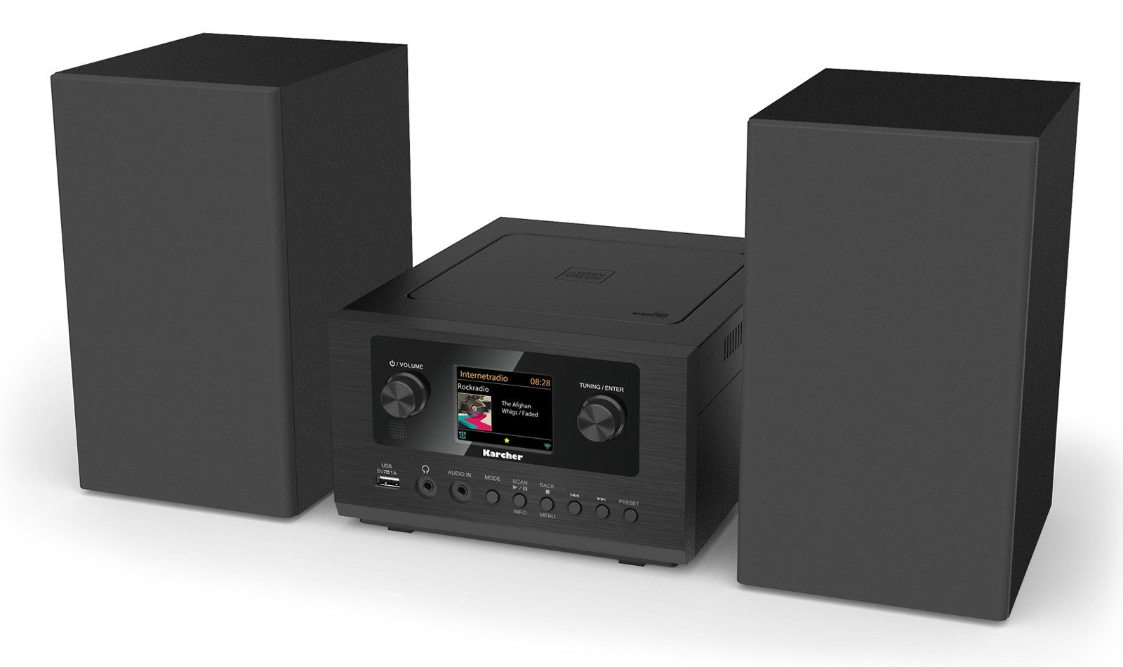 Karcher MC 6490DI DAB+/UKW, W-LAN-Internetradio, CD/MP3 Player, Bluetooth, Stereo -Radio