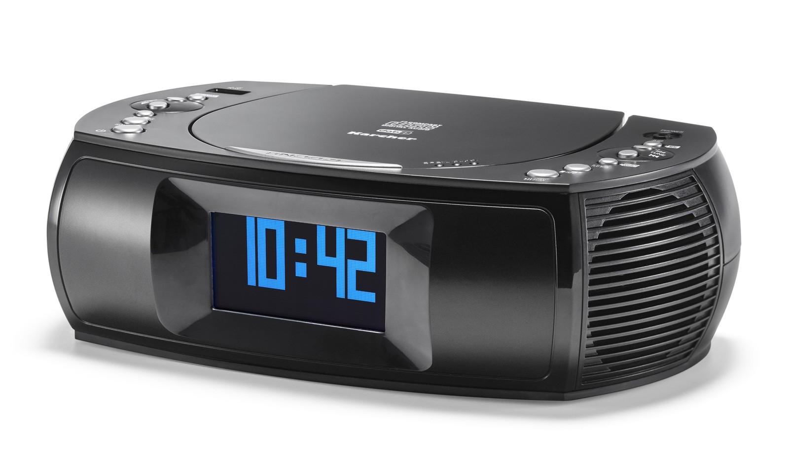 Karcher UR 1309D, Uhren Radio schwarz, DAB+/UKW, CD/MP3 Player