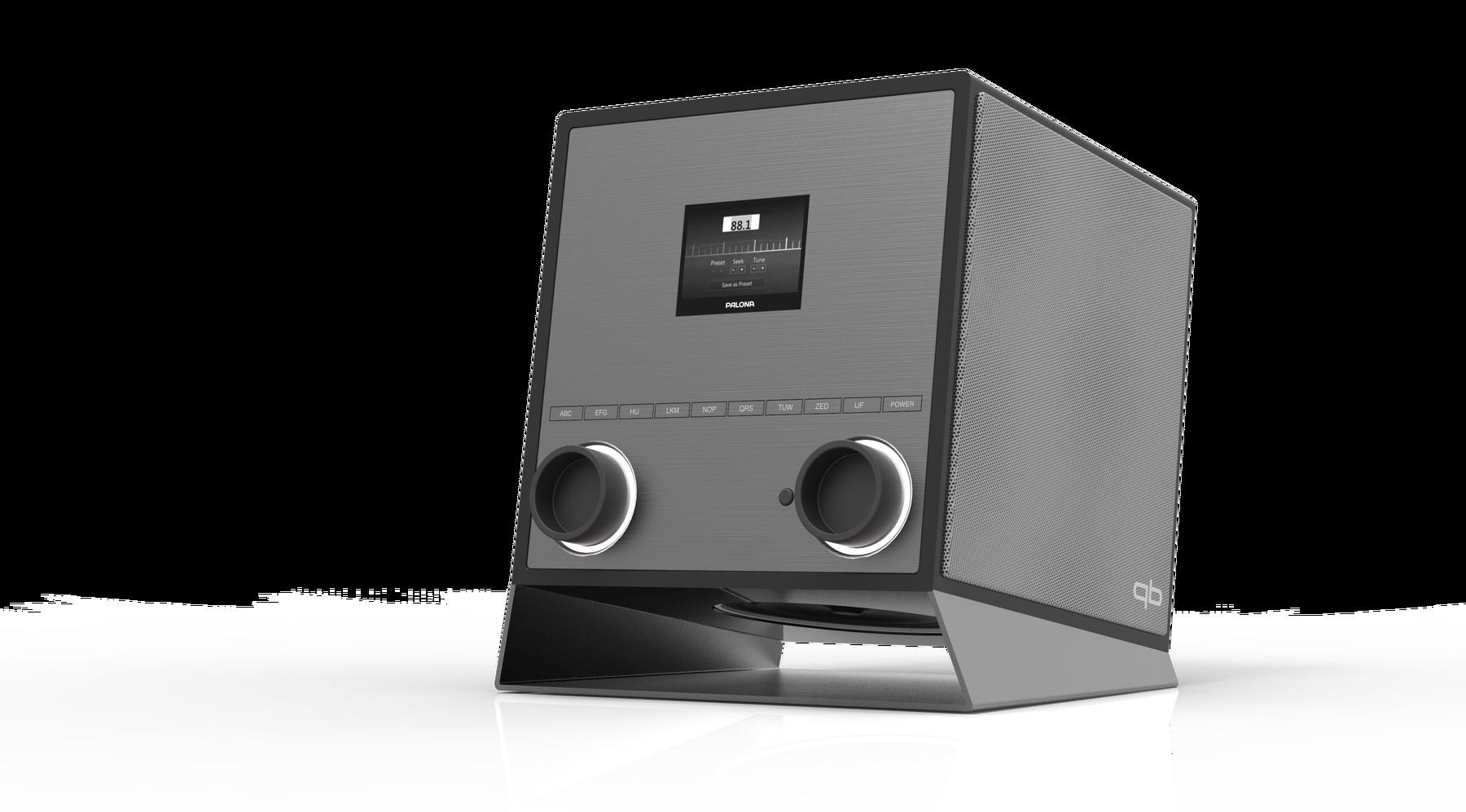 Palona Quubi, Schwarz Hochglanz-Silber, 2.1 Soundsystem mit Subwoofer, 60 Watt