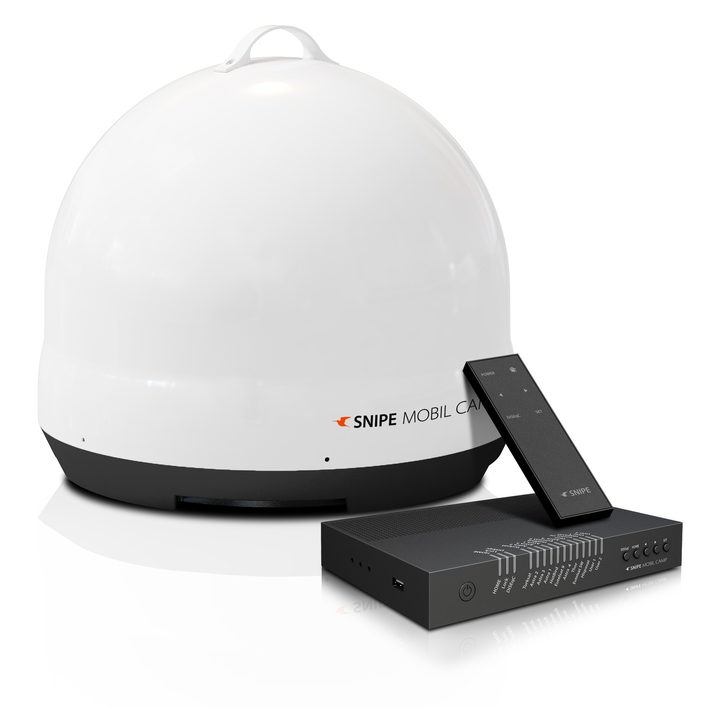 Selfsat SNIPE Mobil Camp Single Portable mobile Sat Antenne