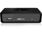 Infomir MAG 254 IPTV SET TOP BOX Multimedia player Internet TV IP Konsole USB HDTV 1080p