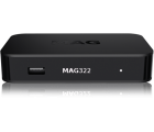 Infomir MAG 322 IPTV SET TOP BOX Multimedia player Internet TV IP Konsole USB HDTV 1080p