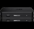 Infomir MAG 322 IPTV SET TOP BOX Multimedia player Internet TV IP Konsole USB HDTV 1080p