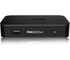 Infomir MAG 322 W1 mit WLAN (Wifi) integriert, IPTV SET TOP BOX Multimedia player Internet TV IP Konsole USB HDTV 1080p