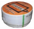 Cavel Sat. Kabel 0,5cm / 150m weiss DG 80, Beste Qualität, Made in Italy