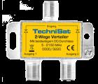 TechniSat 2-Wege Verteiler, 2x DC-Durchlass, Diodenentkoppelt