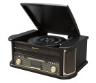Roadstar HIF-1898 D+BT Black Holz Retro Radio Plattenspieler Bluetooth CD USB MP3 Vintage