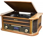 Roadstar HIF-1993D+BT Holz Retro Radio Plattenspieler Bluetooth CD USB MP3 Cassette Vintage