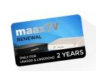Maax TV Verlängerung LN 4000 & LN 5000 HD, Voucher für 24 Monate