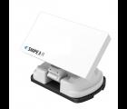 Selfsat Snipe 3 R Single mit Fernbedienung - Vollautomatische Satelliten Camping Antenne