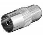 F-Adapter F-Buchse > Koax-Buchse