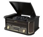 Roadstar HIF-1898 D+BT Black Holz Retro Radio Plattenspieler Bluetooth CD USB MP3 Vintage