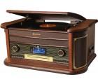 Roadstar HIF-1996D+BT Holz Retro Radio Plattenspieler Bluetooth CD USB MP3 Cassette Vintage